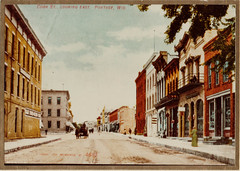 Cook Street Looking East, Color Postcard