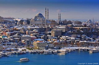Winter Süleymaniye Istanbul in the 1st Day