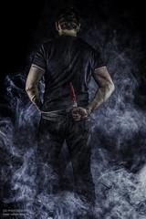 dangerous mind (dargun) Tags: portrait danger studio nebel surreal personen composing bildbearbeitung selbstauslöser