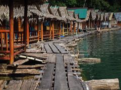 Cheow Lan Lake (Andy Kaye) Tags: park lake water forest thailand boat long tail floating huts lan national jungle thani longtail khao bungalows khaosok surat sok suratthani cheow