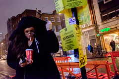 Black Hoodie (Michael Goldrei (microsketch)) Tags: street people woman black london film cup wet coffee girl face rain weather st night dark t photography photo hoodie long exposure fuji photographer darkness faces time photos jan cigarette smoke coat soho january x smoking nighttime rainy hood fujifilm after 100 16 raining drizzle 2016 xseries drizzling drissle x100t drissling
