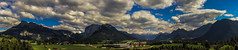 Panorama of Altaussee , Austria (Basel101) Tags: wood people panorama house mountain lake holiday mountains austria james town hall wooden community village place plateau loser images hike valley promenade bond spa along spectre 007 styria altaussee recently viewed municipality badaussee liezen presbytery promenades dreamstime