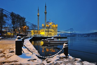 Winter Ortaköy Istanbul in the First Day