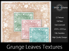 [VT] Grunge Leaves Textures (VirtualTextures) Tags: textures secondlife grunge distressed backgrounds backdrops leaves vines autumn fall
