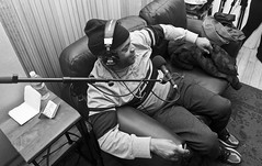 Great Company & Positivity (Brotha Kristufar) Tags: podcast podcasting talk discussion culture hip hop rap music artist nyc yonkers stylesp ghost rapping rapper writing books author mc art entertainment bars dblock monochrome blackandwhite portraits portrait lox bad boy tour life black power 13th documentary opression explore explored fame famous industry weed smoke wisdom jadakiss sheek louch dmx