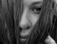 Moraima. (Aviarios Elyon) Tags: girl nikond40 nikon galicia spain espaa retrato rflex portrait blancoynegro bw blanco negro belleza beauty