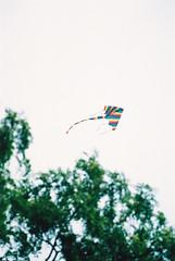 Stripy Kite (Matthew Huntbach) Tags: kite yuyuantan beijing stripy