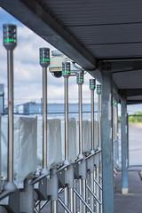 Green Eyed Robots (*Capture the Moment*) Tags: 2016 allianzarena drehkreuz fotowalk minimalism munich mnchen security sicherheit sonya7ii stadion stadium turnstile zeissbatis1885