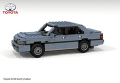 Toyota Camry Sedan - V20 (1986) (lego911) Tags: toyota camry v20 sv20 1986 1980s sedan saloon japan japanese auto car moc model miniland lego lego911 ldd render cad povray lugnuts challenge 108 9th birthday lugnutsturnsnine turns nine 85 liketotally80s like totally 80s redo twincam foitsop
