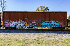 (o texano) Tags: houston texas graffiti trains freights bench benching cuate gater rtd uk wh zee db
