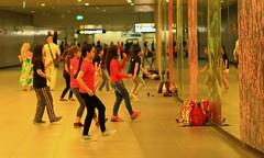 Dance  practice (Rajavelu1) Tags: girls dance practice mirror streetphotography street art aroundtheworld artland creative travel singapore