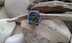 (katerina66) Tags: ring polymerclay leather handmade jewellery oneofakind