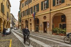 Main Street, Correggio, Italy (4otomo) Tags: correggio italyphotography streetphotography mainstreet historicarchitecture colourfulbuildings