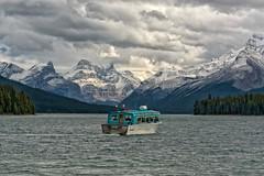 Maligne Lake Cruise (Philip Kuntz) Tags: malignelake spiritisland spiritislandcruiseboat spiritislandcruise cruiseboat boat glaciers glaciallake jaspernationalpark jasper alberta canada