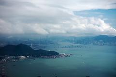 Hongkong from sky (luqingyu) Tags: plane hongkong sea sky blue japan skyline buildings city flight cloud autumn 2016