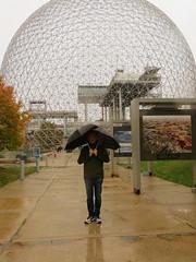 Rain at Biosphere (GEO_Matt) Tags: montreal quebec kanada canada biosphere halloween pumpkins cubes habour tour de lhorolge urlaub holiday october rain weather