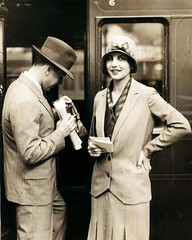 Couple in Train Station (kevin63) Tags: lightner photo old vintage antique 40s woman suit hat couple man