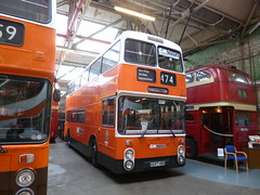 Preserved GM Buses 8697 (A697HNB) 15102016a (Rossendalian2013) Tags: preserved bus manchester greatermanchesterpte gmpte greatermanchestertransport gmbuses gmbusesnorth greatermanchesterbusesnorthlimited firstmanchester leyland atlantean an68 northerncounties a697hnb