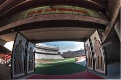 Last Home Game (pac402) Tags: ncaa universityofnebraskalincoln football college huskers nebraska lincoln stadium empty lookingback outdoor skyline
