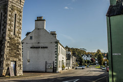 Ann Street Clocktower (superextraawesome) Tags: beautiful picturesque sunny village quaint hotel pub murrayarms scotland borders galloway dumfries gatehouseoffleet