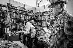 2nd Hand Books (Mustafa Selcuk) Tags: books people sokak siyahbeyaz 16mm xpro2 fujifilmtr fujifilm bw bnw blackandwhite monochromatic monochrome streetphotography streetphotographer streetshooter street