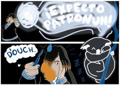 Reto de Kai #7 (BeaLuc aka Loony Rotten) Tags: selfportrait digital mix comic witch style kai koala dibujo bd challenge reto bruja ravenclaw expecto patronum