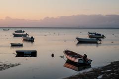 Öresund Sunset (Håkan Dahlström) Tags: bridge sunset sea sky photography se boat skåne sweden cropped f11 höllviken öresund öresundsbron 2015 skånelän xe2 ¹⁄₁₀₀sek xf35mmf14r vellinges 12528082015200125