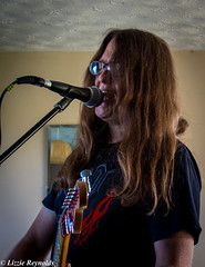 Howie sings the Blues.... (lizzieisdizzy) Tags: music man male rock artist singing guitar longhair handsome blues sing microphone mic strumming strum electricguitar playingmusic musicion hippytype