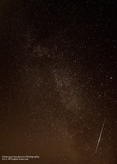 Perseids meteor and Milky way
