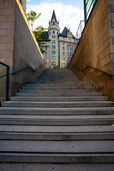 Castle Up The Stairs (stevenbulman44) Tags: city summer holiday ontario building architecture stairs canon landscape concrete outdoor ottawa chateaulaurier lseries 1740f40l