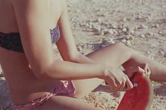 (Ferran  Tudela) Tags: summer film girl canon fuji ae1 superia 200 program watermellon ferran tudela