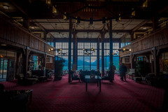 Inside the Prince of Wales Hotel; Waterton, Canada.