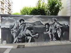 Graff in Grenoble (brigraff) Tags: blackandwhite streetart festival grenoble painting noiretblanc drawing nb panasonic kouka tz60 panasonictz60 brigraff streetartgrenoblefest