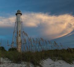 Lighthouse 2-5 (Trojan Wonder) Tags: sun lighthouse beach set sand florida rob preserve bocagrande 2015 swflorida gasprilla