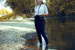 Water. (Philipp Sarmiento) Tags: blue sky people sexy fall feet nature water colors girl analog canon hair nude landscapes photographer legs no blonde 5d 28 24mm fullframe regensburg philipp kamera sarmiento