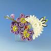 Purple Crane Comb (Wisteria Gardens) Tags: flower floral handmade silk maiko geiko hana geisha yukata kimono tsumami furisode kanzashi