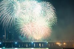 Seoul International Fireworks Festival () (Skagos26) Tags: water colors festival night river dark 50mm lights nikon fireworks event international seoul nikon50mmf18 hangang  seoulinternationalfireworksfestival