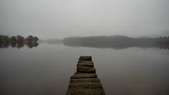Loch Ard (Taburetka) Tags: mist water fog landscape scotland minimal loch trossachs ard lochard
