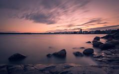 Aurinkolahti (Bunaro) Tags: summer sky beach clouds strand suomi finland evening helsinki long exposure longing vuosaari aurinkolahti