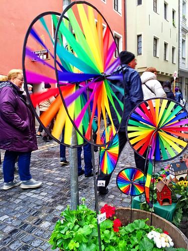 Colorful Pinwheels in Regensberg