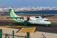 Binter Canarias Aerospatiale ATR.72 EC-KSG GCRR 280315-2 (gerrykane214) Tags: blue sunshine canon island eos march airport spain skies aviation commercial canary gcrr 2015 lanzorote
