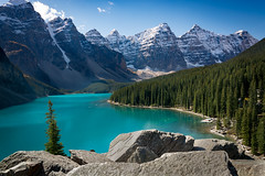 Moraine Lake, Alberta (Satelitas) Tags: lake mountains rockies rocky alberta banff rockymountains moraine 2015 lakemoraine