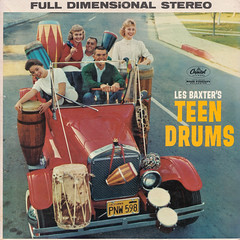 Les Baxter - Teen drums (oopswhoops) Tags: drums album vinyl baxter bongos exotica percussions