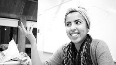 College Student, Boston (Trenten Kelley) Tags: life new city school england bw woman white black macro eye art college girl beautiful smiling boston architecture canon ma fun happy photography coast student model focus pretty sara photographer artistic serious drawing gorgeous massachusetts muslim hijab drawings architectural arabic east international arab 7d dslr fal