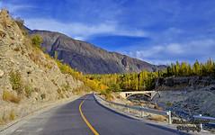 Karakoram Highway (Shehzaad Maroof Khan) Tags: road november autumn pakistan mountain gold evening nikon highway peace karakoram kkh goldenhour gilgit gilgitbaltistan