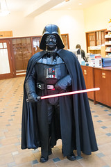 Darth Vader prepares (chris favero) Tags: trooper starwars cosplay 7d stormtrooper 501st darthvader blaster e11