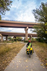 The Sand Creek Trail, parallels the I-70 Interstate in Denver, CO.