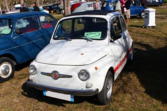 500 Abarth (alex73s https://www.facebook.com/CaptureOfAlex?pnr) Tags: auto old white classic car canon italian automobile european fiat transport lac meeting automotive du retro coche 500 oldcar blanche macchina ancienne abarth bourget italienne rassemblement europeenne