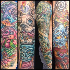 Some sleeves from 2015 #pooch #alteredstatetattoo