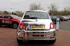 Chromed .. ! (John(cardwellpix)) Tags: uk november modern fiat surrey 30th 500 guildford chromed 2015